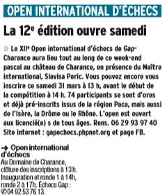 va t'on battre le record de l'open ? suspense