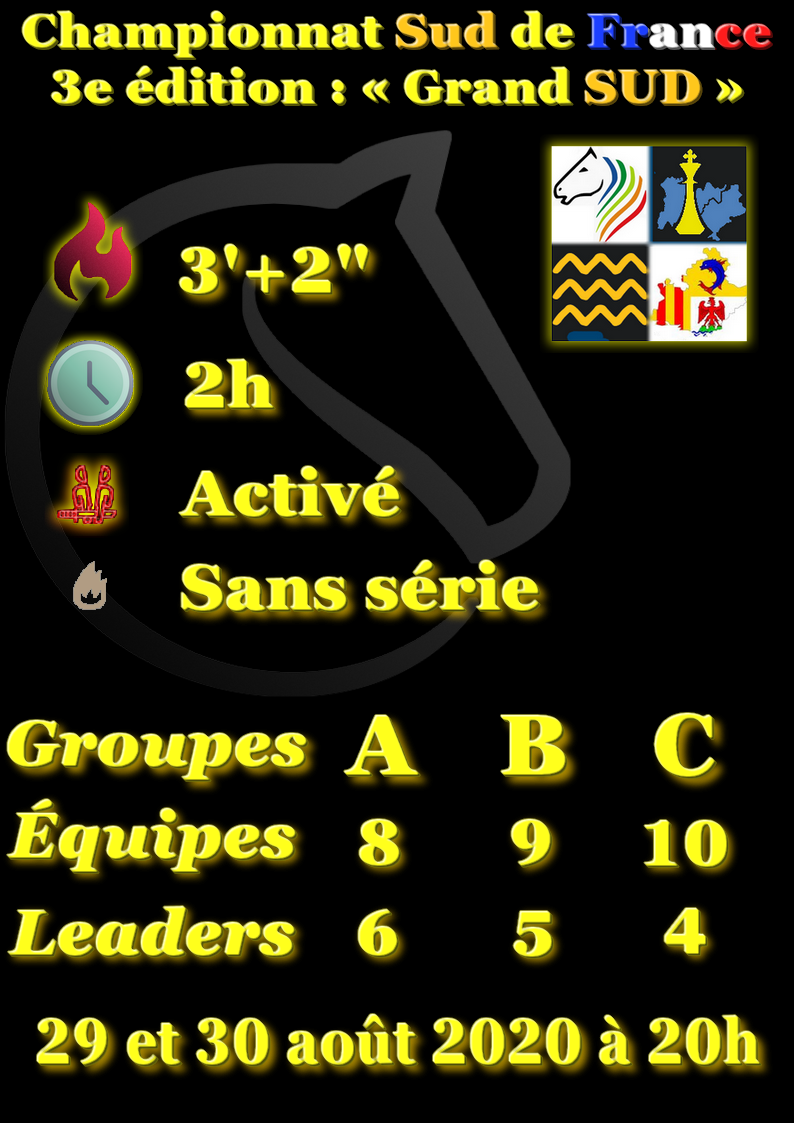 """[Def] Championnat par équipe Sud de France : édition """"Grand SUD"""""""